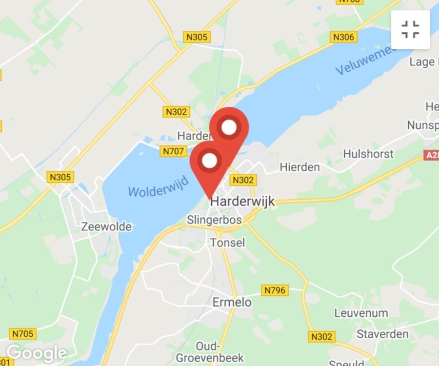 Kaart coronatest-harderwijk.com - Corona testlocaties Harderwijk